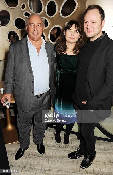 Sir Philip Green Vogue UK editor Alexandra Shulman and winner Nicholas Kirkwood attend the BFC/Vogue Designer Fashion Fund winners announcement at...