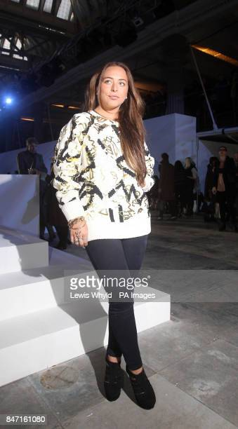 Sir Philip Green's daughter Chloe backstage during the Topshop Unique show as part of London Fashion Week Topshop Venue Old Billingsgate London
