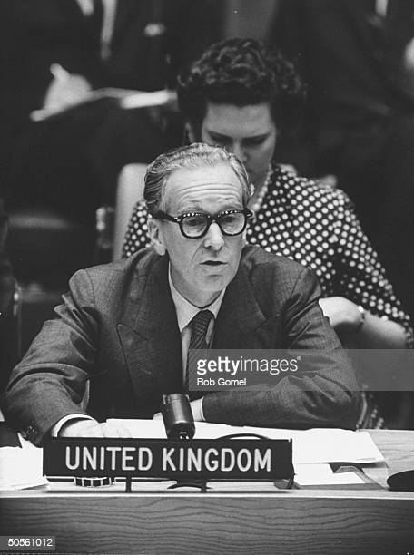 Sir Pierson Dixon at a UN Security Council discussion about the RB47 incident