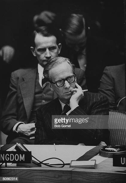 Sir Pierson Dixon at United Nations security council meeting