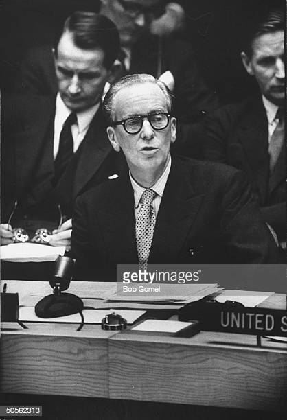 Sir Pierson Dixon speaking at United Nations security council meeting