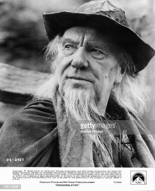 Sir Ralph Richardson as the world's last sorcerer in a scene from the film 'Dragonslayer' 1980