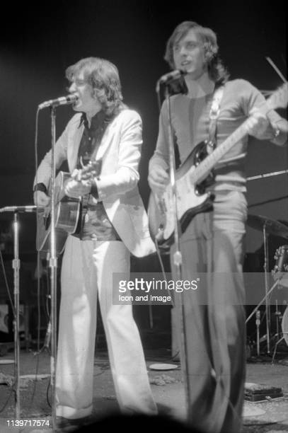 Sir Ray and Dave Davies who founded The Kinks one of the pioneering rock bands of the British Invasion perform in Central Park at the Schaefer Music...