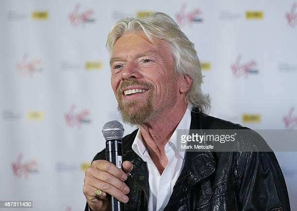 Sir Richard Branson addresses the media on September 9, 2015 in Sydney, Australia. Sir Branson is calling on Australians to reach out for R U OK day...