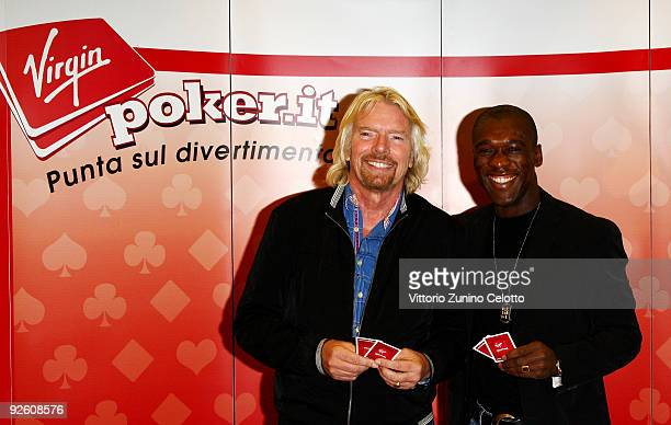 Sir Richard Branson and Clarence Seedorf attend the Virgin Games press conference on November 2, 2009 in Milan, Italy. Virgin Games was set up in...