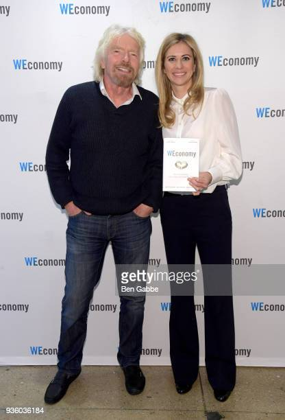 Sir Richard Branson and Dr Holly Branson at the WEconomy book launch on March 21 2018 in New York City