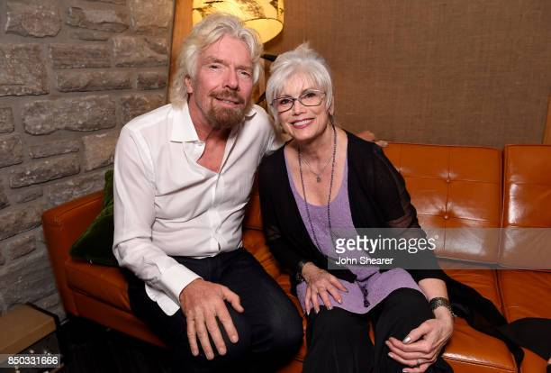 Sir Richard Branson and Emmylou Harris attend Virgin Hotels Nashville Groundbreaking Ceremony on September 20 2017 in Nashville Tennessee