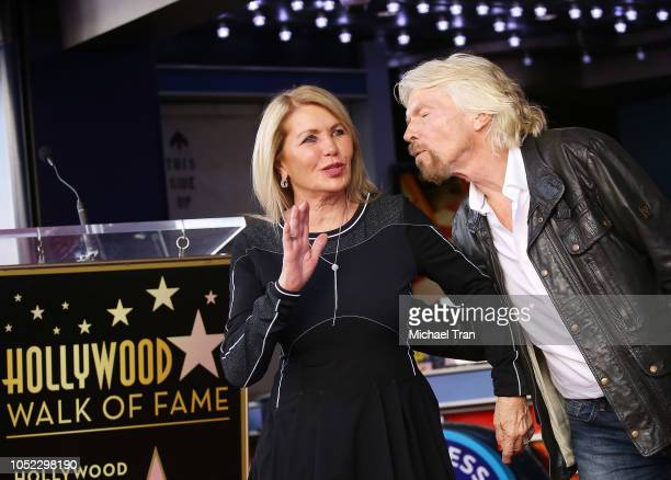 Sir Richard Branson and Joan Templeman attend the ceremony honoring Sir Richard Branson with a Star on The Hollywood Walk of Fame held on October 16,...