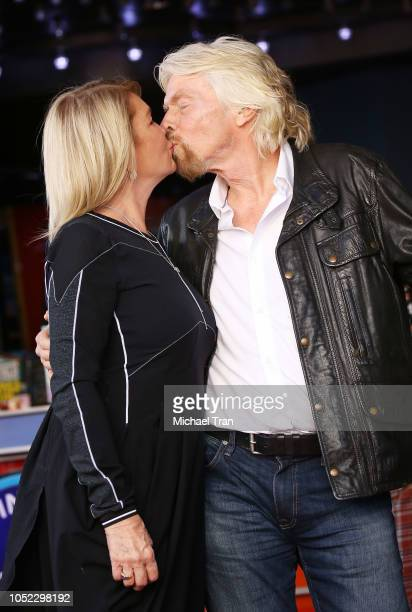 Sir Richard Branson and Joan Templeman attend the ceremony honoring Sir Richard Branson with a Star on The Hollywood Walk of Fame held on October 16...