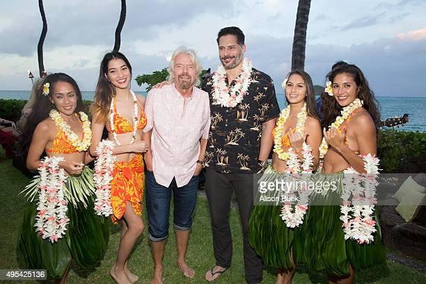 Sir Richard Branson and Joe Manganiello attend Virgin America and Airbnb Hawaii Launch Party at Various Locations on November 2 2015 in San Francisco...