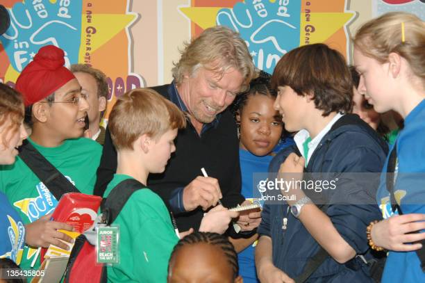 Sir Richard Branson and kids during Giffoni Hollywood Official Welcome By Jon Voight and Sir Richard Branson at Renaissance Hotel in Hollywood...
