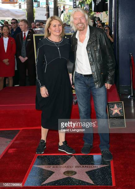 Sir Richard Branson and wife Joan Templeman attend his being honored with a Star on the Hollywood Walk of Fame on October 16, 2018 in Hollywood,...