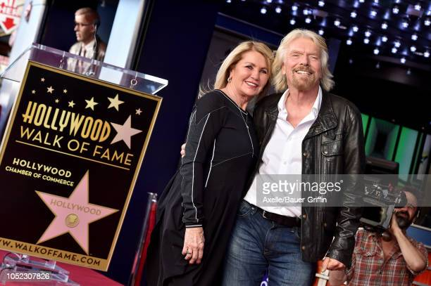 Sir Richard Branson and wife Joan Templeman attend the ceremony honoring Sir Richard Branson with star on the Hollywood Walk of Fame on October 16,...