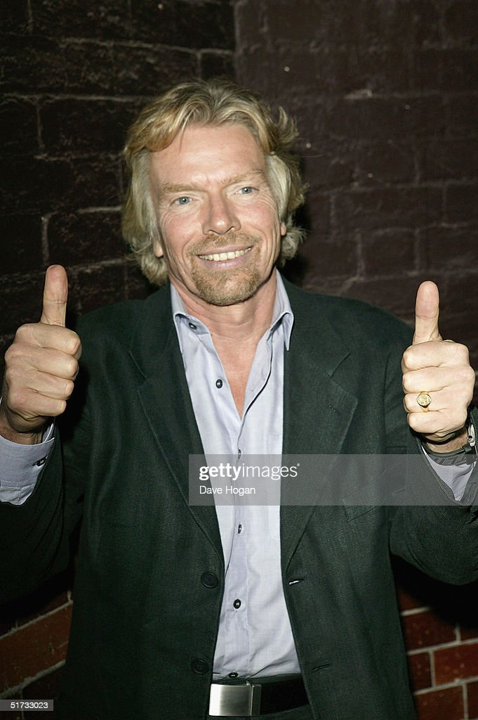 Sir Richard Branson arrives at the final of 'UK Music Hall Of Fame', the Channel 4 series looking at popular music from the 1950's to the 1990's, at the Hackney Empire on November 11, 2004 in London. Jamie Theakston has, for the past few weeks, been asking the public to vote on who should enter Channel 4's Hall Of Fame, and the winners are inducted this evening.