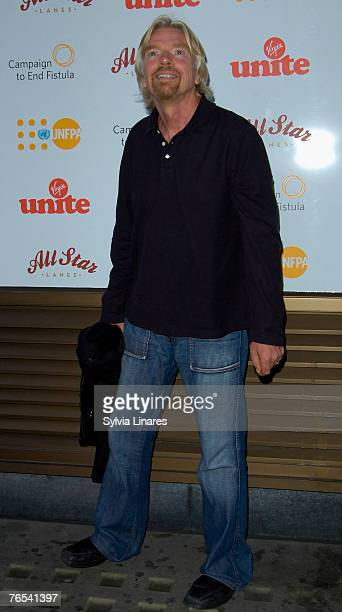 Sir Richard Branson at the Virgin Unite Campaign to End Fistula Celebrity Bowl Off September 5, 2007 at All Star Lanes in London, England.