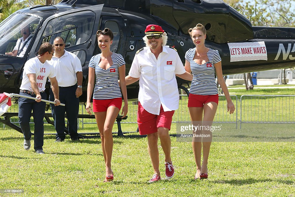 Sir Richard Branson Makes Announcement In Miami : News Photo