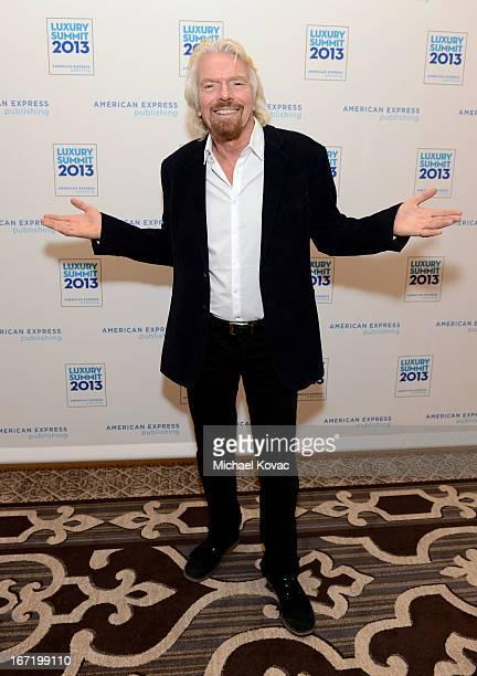 Sir Richard Branson attends The American Express Publishing Luxury Summit 2013 at St Regis Monarch Beach Resort on April 22 2013 in Dana Point...