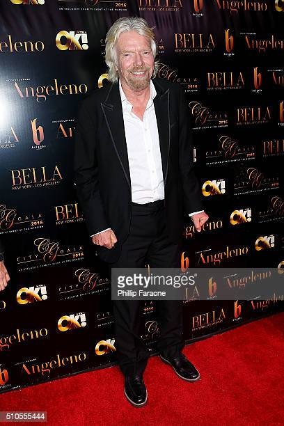 Sir Richard Branson attends the City Gala Fundraiser 2016 at The Playboy Mansion on February 15 2016 in Los Angeles California