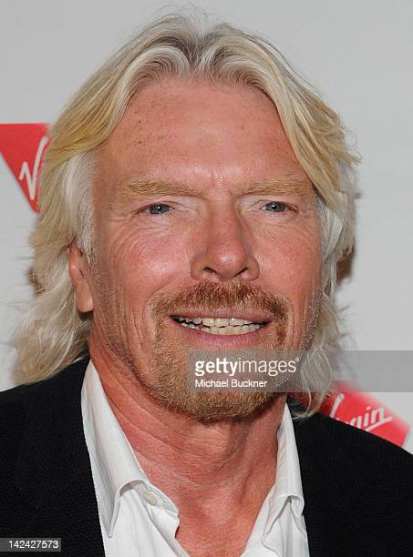 Sir Richard Branson attends the Launch Party for Virgin America's First Flight from Los Angeles to Philadelphia at the Hotel Palomar on April 4 2012...