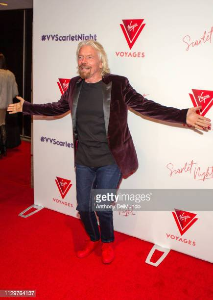 Sir Richard Branson attends the Scarlet Night Party hosted by Virgin Voyages at PlayStation Theater on February 14 2019 in New York City