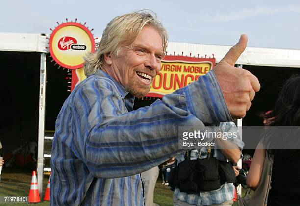 Sir Richard Branson attends the Virgin Festival by Virgin Mobile at Pimlico Race Course on September 23 2006 in Baltimore Maryland