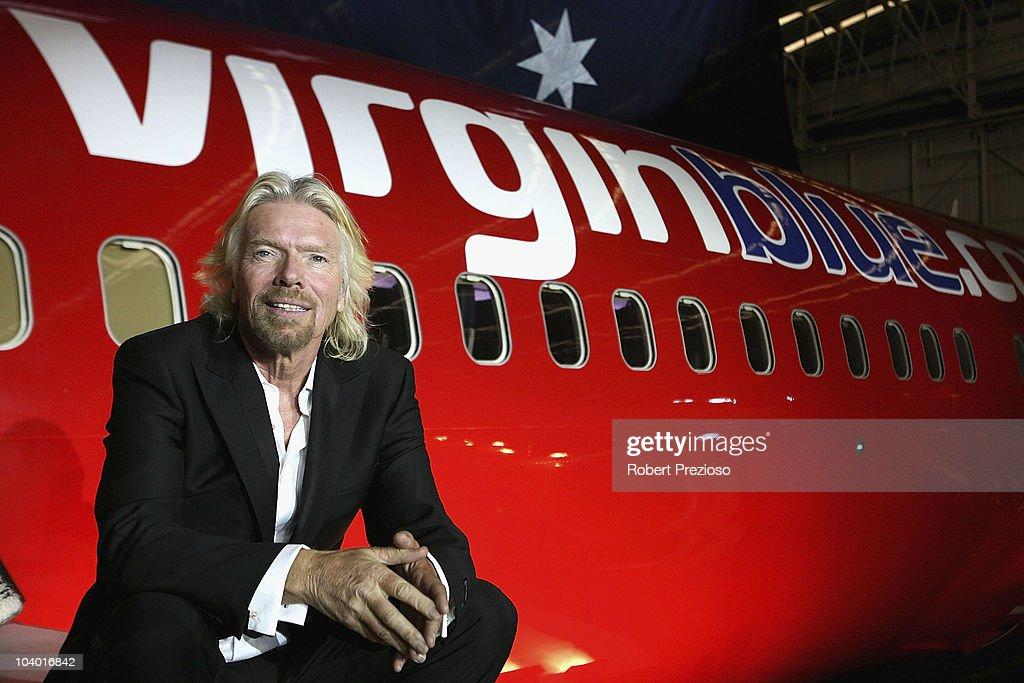 Delta Goodrem And Richard Branson Celebrate Virgin Blue's Anniversary : ニュース写真