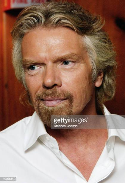 Sir Richard Branson Chairman and CEO of the Virgin Group attends the Virgin Mobile USA party at the Gramercy Park Hotel April 25 2003 in New York...