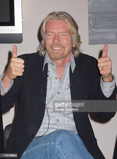Sir Richard Branson during Sir Richard Branson Announces Headliners and Dates for Virgin Festival by Virgin Mobile March 22 2007 at Soho House in New...