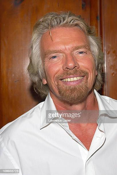 Sir Richard Branson during Winona Ryder and Sir Richard Branson Celebrate Virgin Mobile's 500,000th Subscriber at The Cobalt Room at the Grammery...