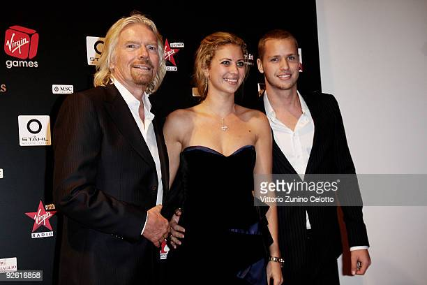 Sir Richard Branson Holly Branson and Sam Branson attend the Virgin Games Charity Gala on November 2 2009 in Milan Italy