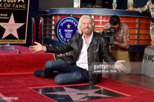 Sir Richard Branson is honored with star on the Hollywood Walk of Fame on October 16, 2018 in Hollywood, California.
