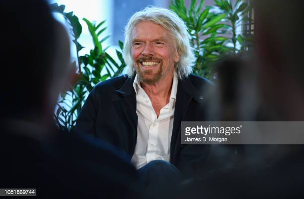 Sir Richard Branson laughs during the launch of The B Team Australasia on October 11 2018 in Sydney Australia The B Team Australasia is a regional...