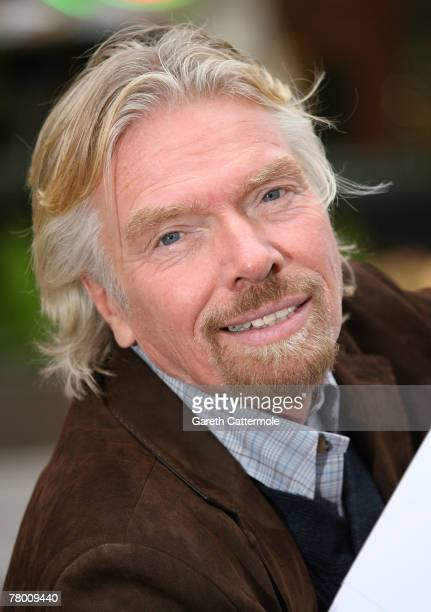 Sir Richard Branson launches his new Virgin Mobile directory enquiries number 118 918 on November 20 2007 in London England By using the service...