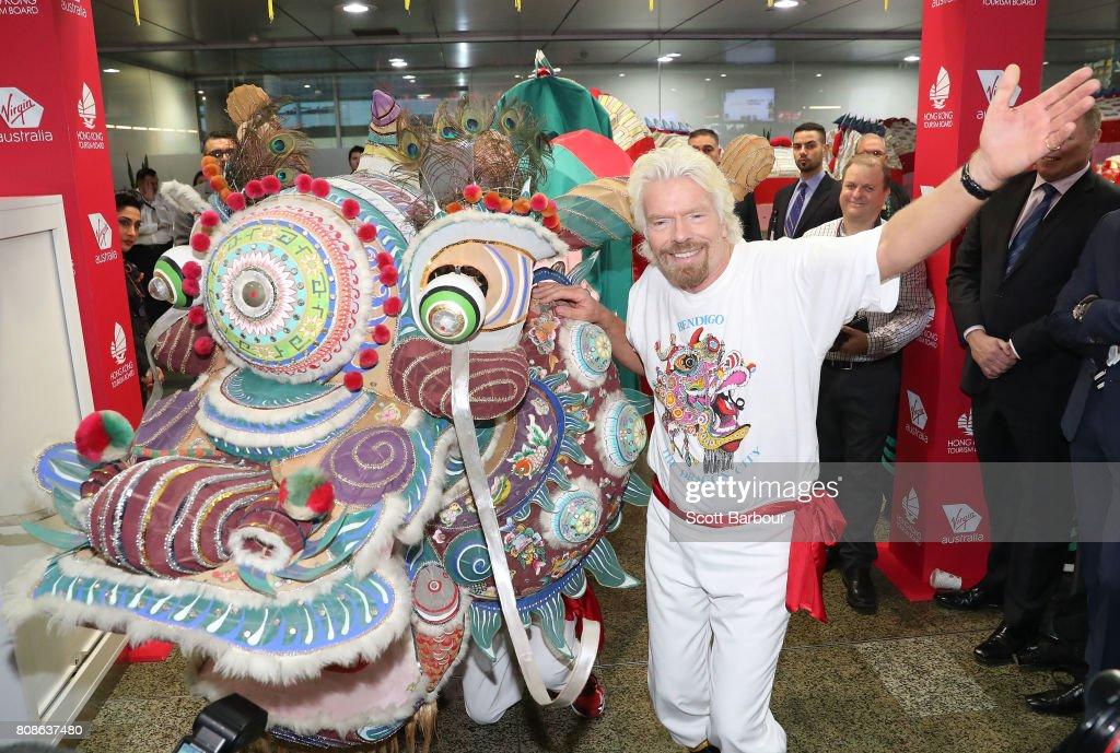Sir Richard Branson Launches New Virgin Australia Route To Hong Kong : News Photo