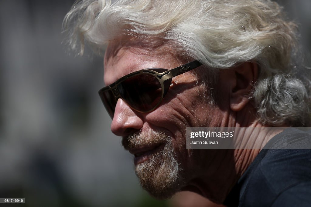 Sir Richard Branson looks on during a news conference to announce the launch of Virgin Sport on May 18, 2017 in San Francisco, California. Virgin Group founder Sir Richard Branson announced Virgin Sport San Francisco, a half marathon run and fitness festival that is scheduled for October 14.