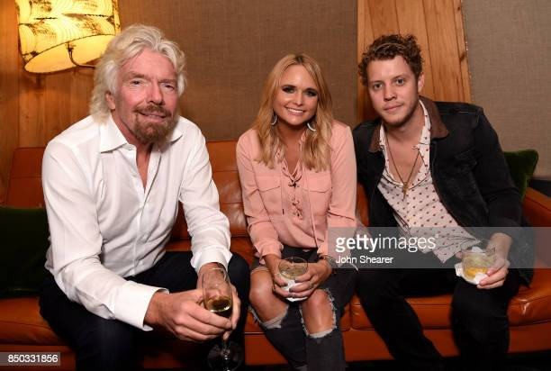 Sir Richard Branson Miranda Lambert and Anderson East attend Virgin Hotels Nashville Groundbreaking Ceremony on September 20 2017 in Nashville...