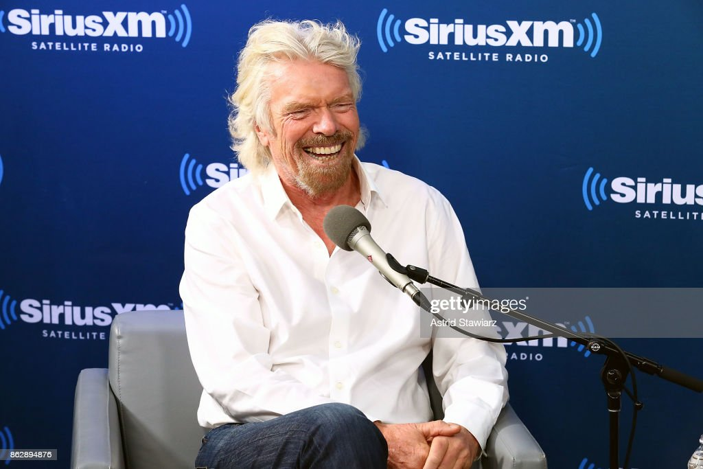 """Sir Richard Branson Participates In A SiriusXM """"Town Hall"""" Event Hosted By Dan Rather : News Photo"""
