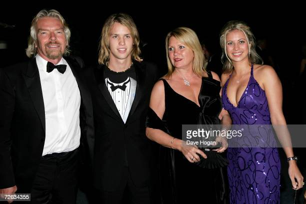 Sir Richard Branson, Sam Branson, Joan Templeman and Holly Branson attend the Casino Royale After Party held in Berkley Square on November 14 in...