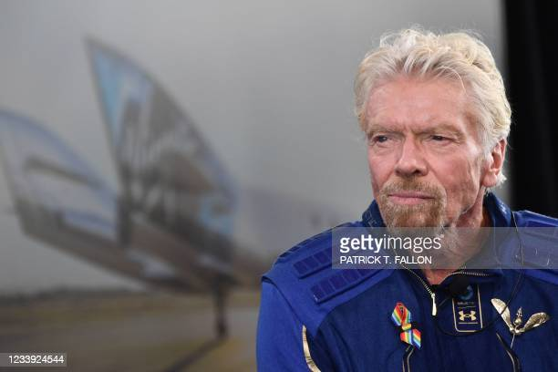 """Sir Richard Branson speaks after he flew into space aboard a Virgin Galactic vessel, a voyage he described as the """"experience of a lifetime"""" -- and..."""