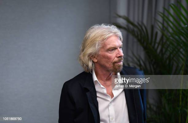 Sir Richard Branson waits to address an audience during the launch of The B Team Australasia on October 11 2018 in Sydney Australia The B Team...