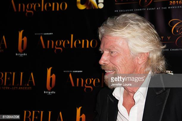 Sir Richard Charles Nicholas Branson arrives at the 2016 City Gala Fundraiser at The Playboy Mansion on February 15 2016 in Los Angeles California