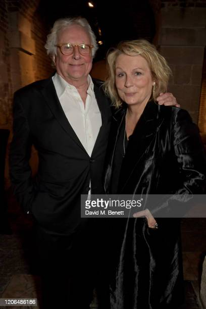 """Sir Richard Eyre and Jennifer Saunders attend the press night after party for """"Blithe Spirit"""" at The Cafe at the Crypt on March 10, 2020 in London,..."""