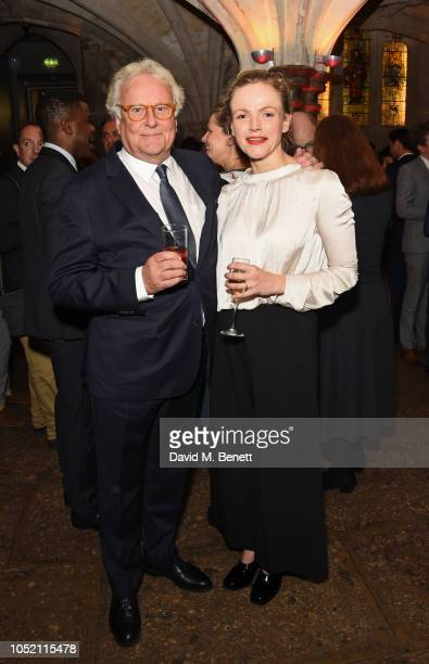 Sir Richard Eyre and Maxine Peake attend The UK Theatre Awards 2018 at The Guildhall on October 14, 2018 in London, England.