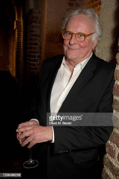 """Sir Richard Eyre attends the press night after party for """"Blithe Spirit"""" at The Cafe at the Crypt on March 10, 2020 in London, England."""