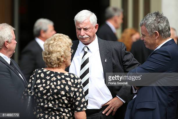 Sir Richard Hadlee after the funeral service for Martin Crowe on March 11 2016 in Auckland New Zealand Former New Zealand cricketer Martin Crowe...