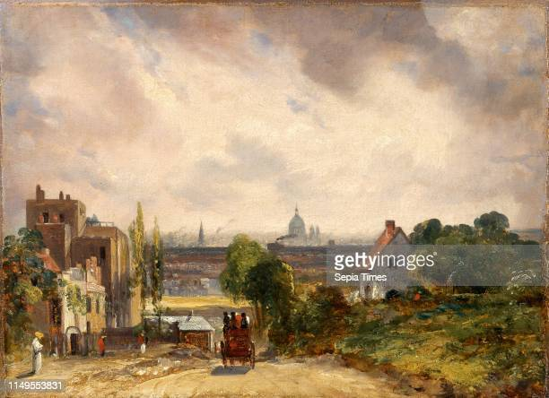 Sir Richard Steele's Cottage Hampstead A View of London with Sir Richard Steele's House John Constable 17761837 British