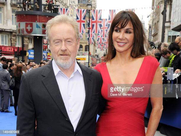 Sir Ridley Scott and Gianina Facio attend the World Premiere of 'Prometheus' at Empire Leicester Square on May 31, 2012 in London, England.