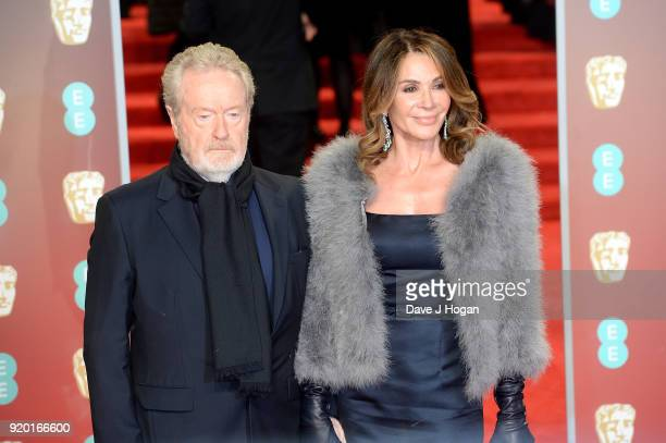 Sir Ridley Scott and Giannina Facio attend the EE British Academy Film Awards held at Royal Albert Hall on February 18, 2018 in London, England.