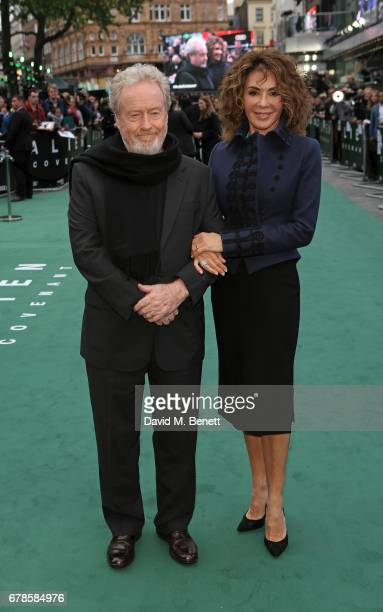 "Sir Ridley Scott and Giannina Facio attend the World Premiere of ""Alien: Covenant"" at Odeon Leicester Square on May 4, 2017 in London, England."