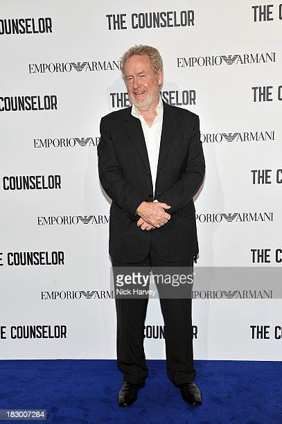 Sir Ridley Scott arrives at 'The Counselor' Reception at Freemasons' Hall United Grand Lodge of England in London on October 3 2013 in London United...